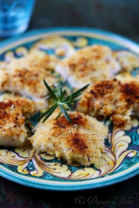 Filets de poissons gratinés au four a la sicilienne