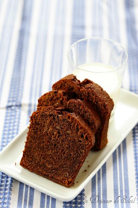 Cake banane, chocolat et huile d'olive (banana bread)