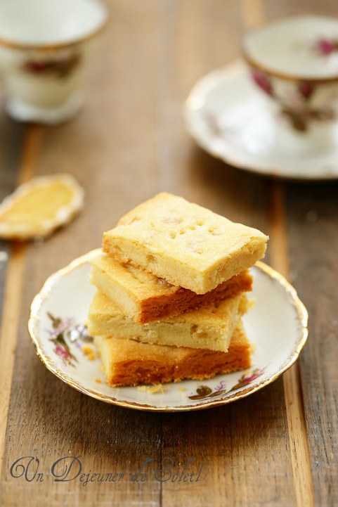 Biscuits shortbreads au gingembre (ginger)