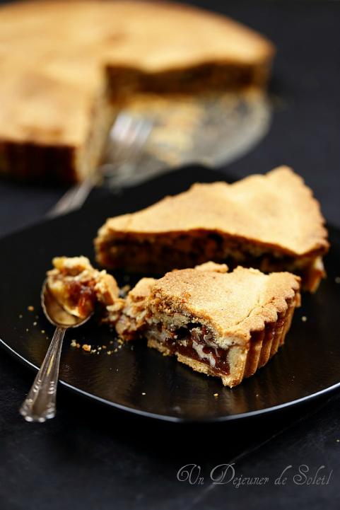 Tarte aux noix et caramel - Nuts and caramel tart