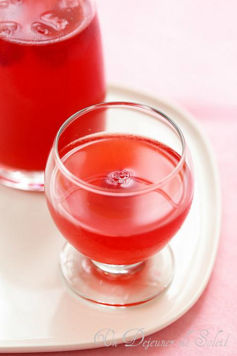 Citronnade ou limonade maison au framboises - Raspberry lemonade