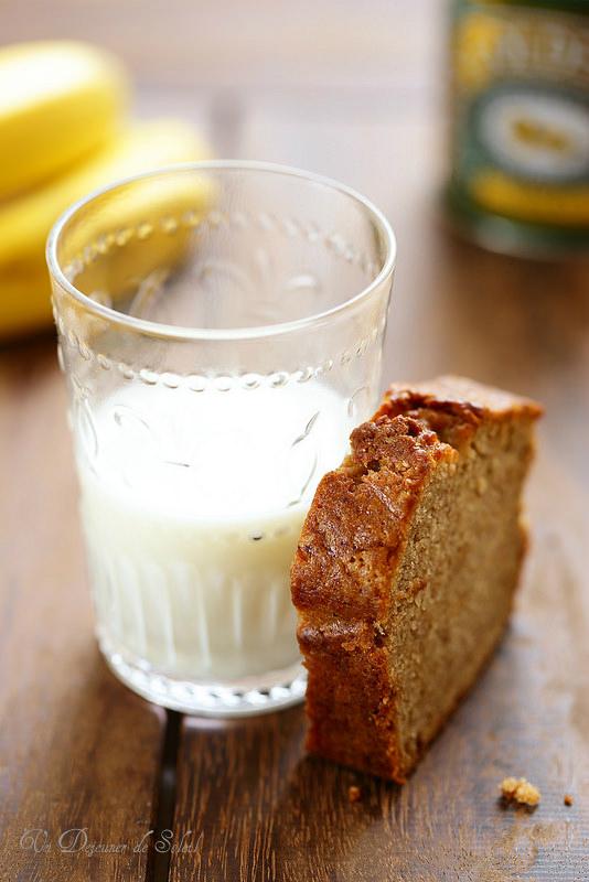 Cake à la banane et au golden syrup
