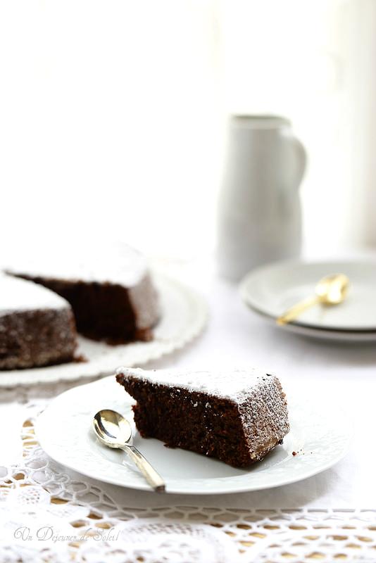 Torta caprese (fondant au chocolat et aux amandes, sans gluten)