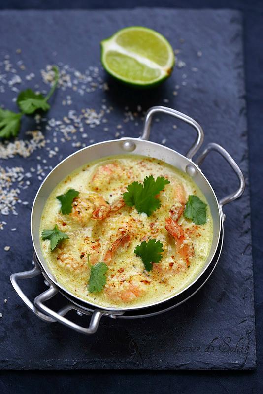 Curry indien de gambas à la noix de coco