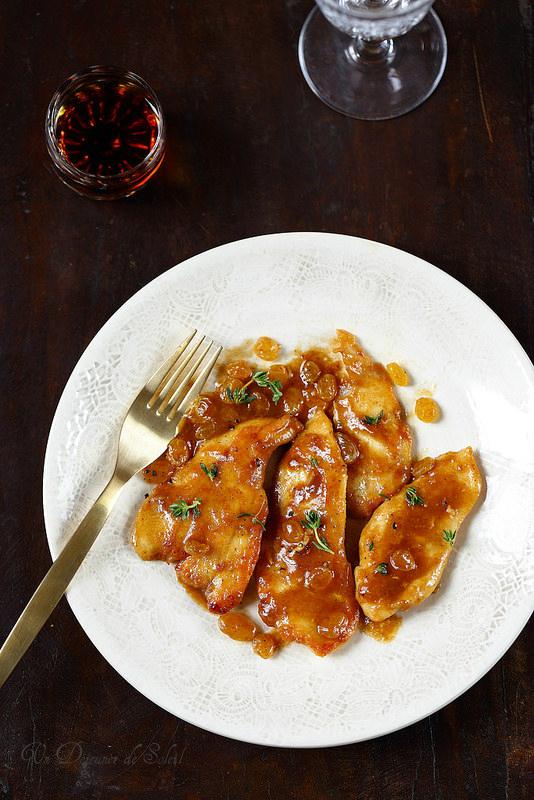 Escalopes de poulet au Marsala à l'italienne