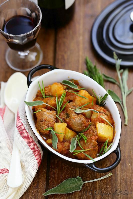 Sauté de veau à l'italienne (spezzatino)