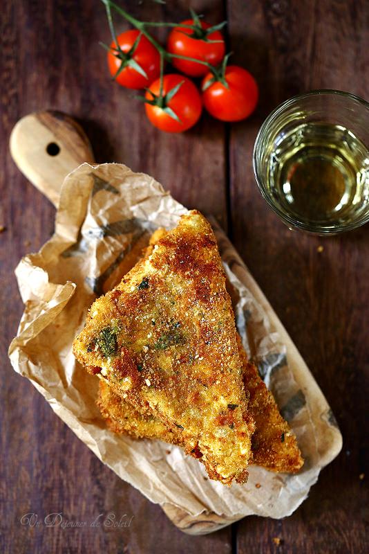 Mozzarella in carrozza (sandwich de mozzarella)