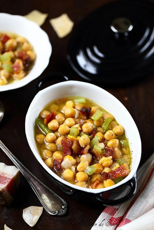 Soupe de pois chiches à l'italienne - Un déjeuner de soleil