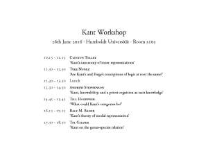 Kant-workshop