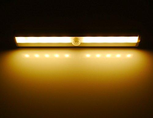 Hotenda DIY Stick-on Anywhere Portable 10 LED Wireless Motion Sensing Closet Cabinet LED Night & LE LED Closet Light Motion Sensing Under Cabinet Lighting 10-led ... azcodes.com