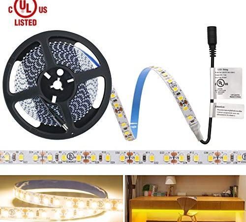 HitLights Warm White LED Light Strip, Premium High Density