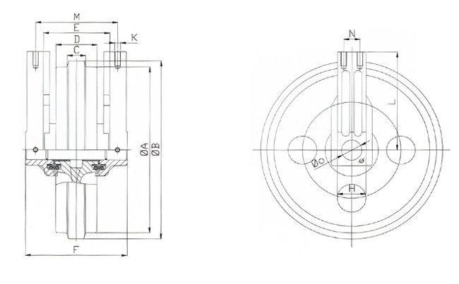 Forging / Casting Excavator Track Idler For PC120-5