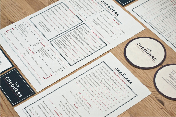 Art of the Menu The Chequers