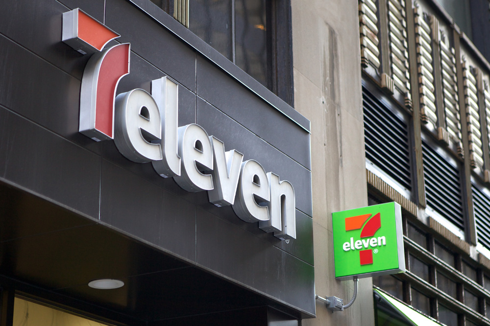 Courtesy of underconsideration.com.  The new 7-Eleven concept store in New York.