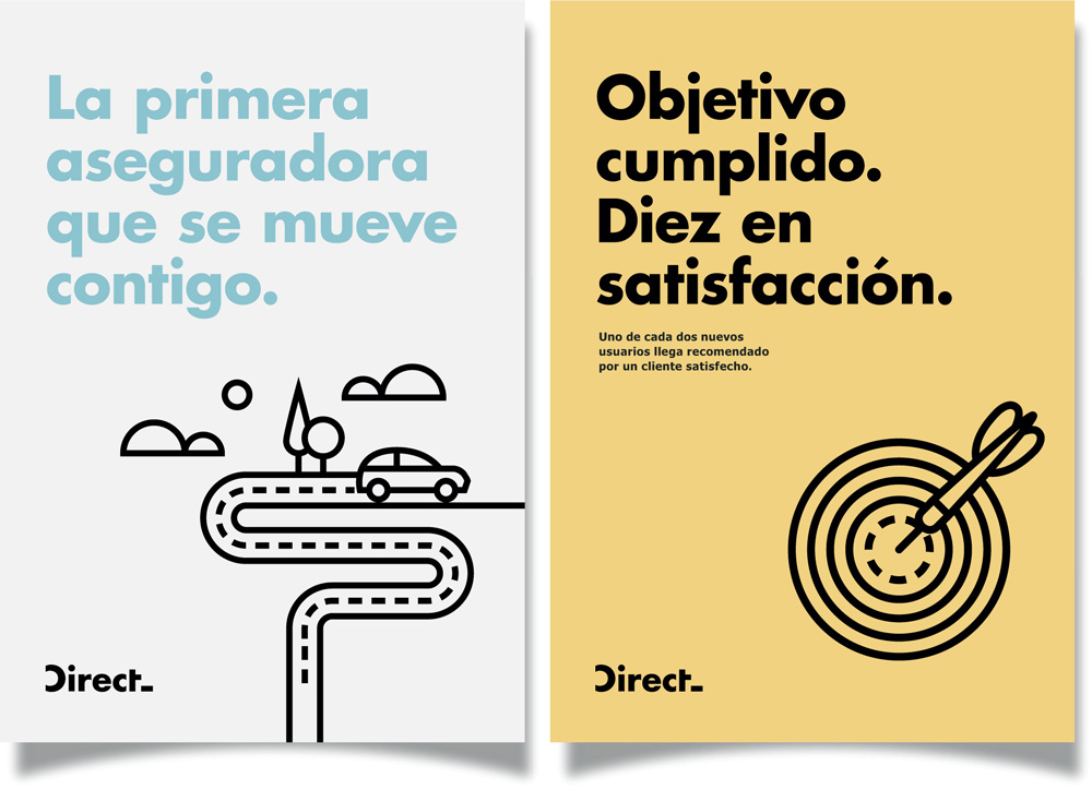 New Logo and Identity for Direct by El Laboratorio