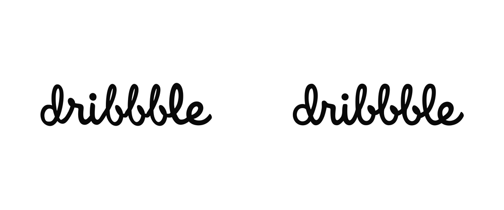 Brand New: New Logo for Dribbble done In-house