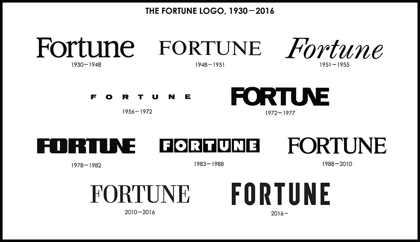 Brand New: New Logo and Cover for Fortune done In-house