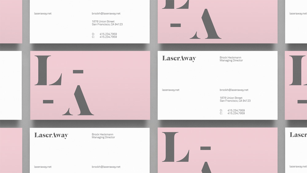New Logo and Identity for LaserAway by DIA