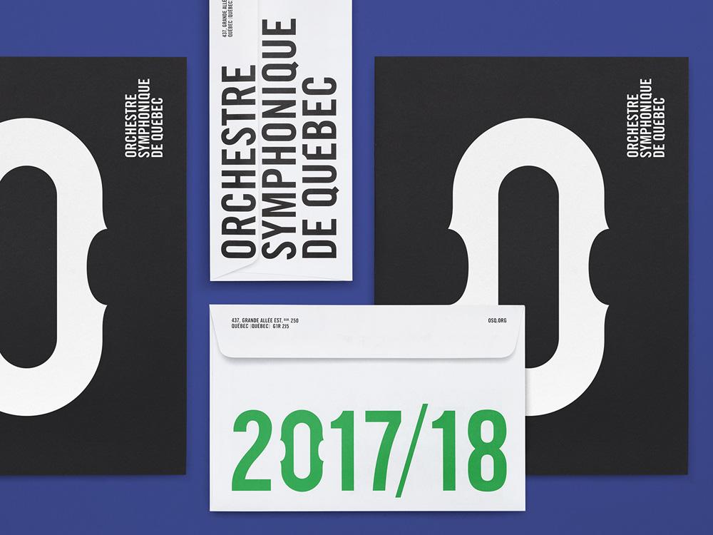 New Logo and Identity for Orchestre Symphonique de Québec by lg2
