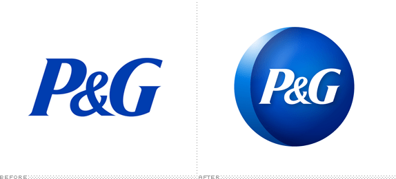 P&G Logo, Before and After