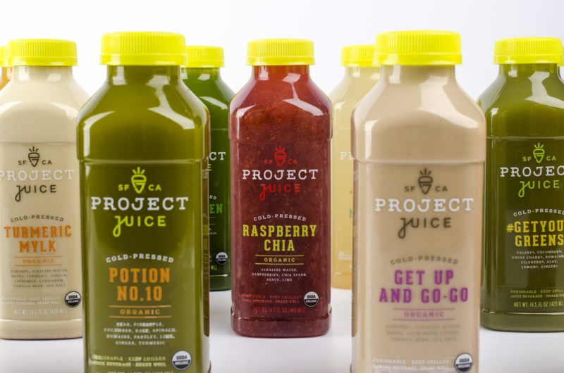 Custom font juice packaging design