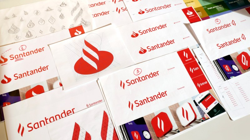 New Logo and Identity for Santander by Interbrand