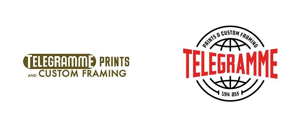New Logo and Identity for Telegramme Prints & Custom Framing by Zoca
