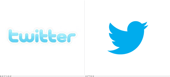 Twitter Logo, Before and After