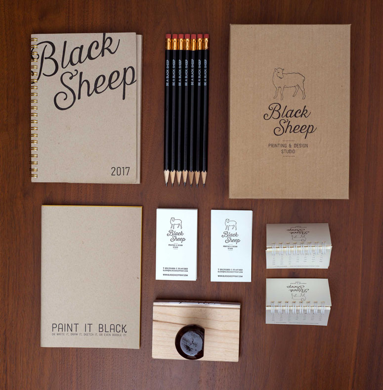 FPO Black Sheep Studio Business Cards and Promotional Items