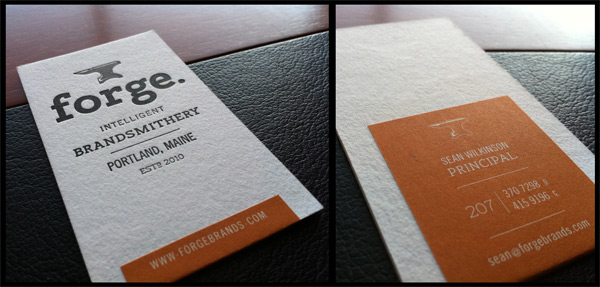 Forge Business Cards