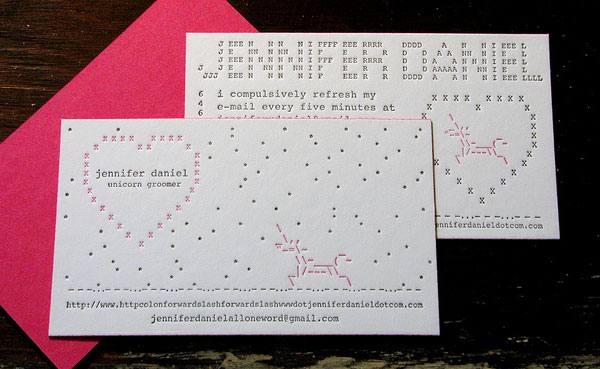 Jennifer Daniel Business Cards