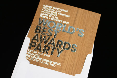 "FPO Travel Leisure ""World's Best Awards"" Party Invitation"