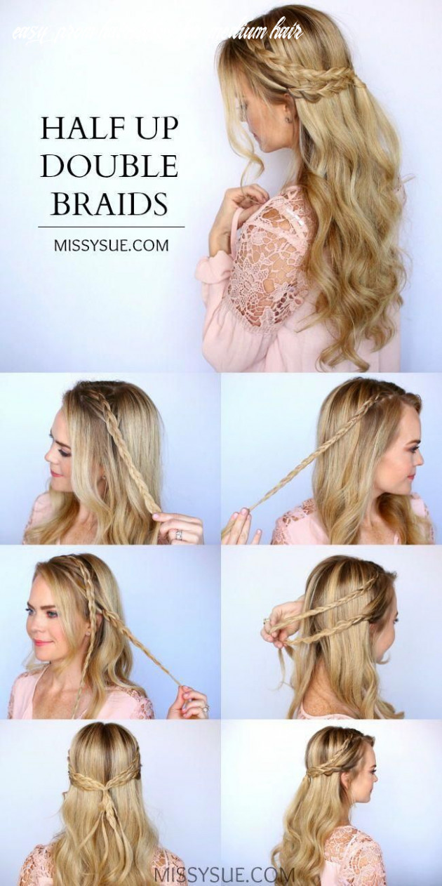 8 easy prom hairstyles for medium to long hair you can diy at