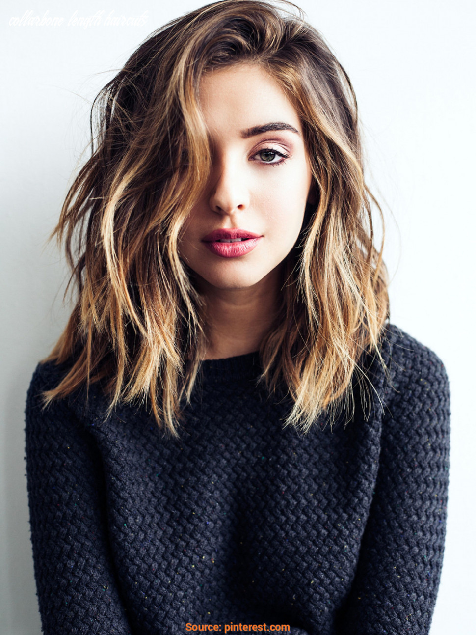 9 cute & easy hairstyles for shoulder length hair collarbone length haircuts