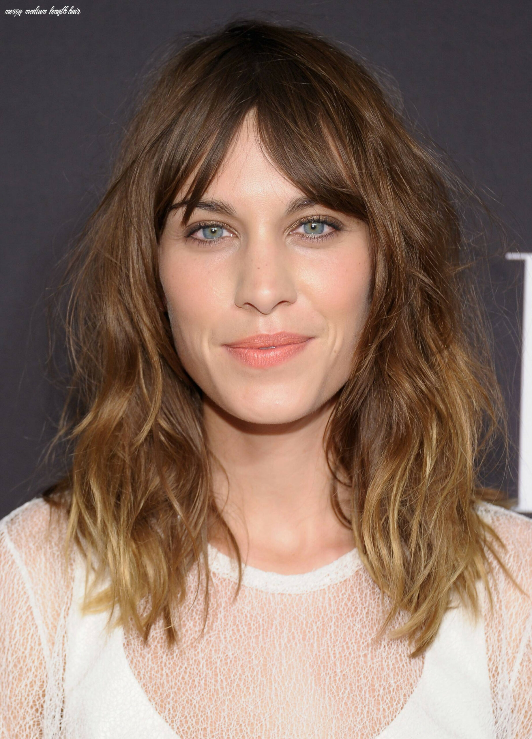 Cute medium length hairstyles with messy natural look inspiring mode messy medium length hair