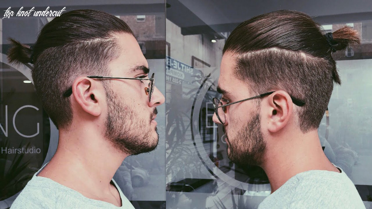 Disconnected undercut haircut with a top knot/man bun | mens haircut 10 top knot undercut