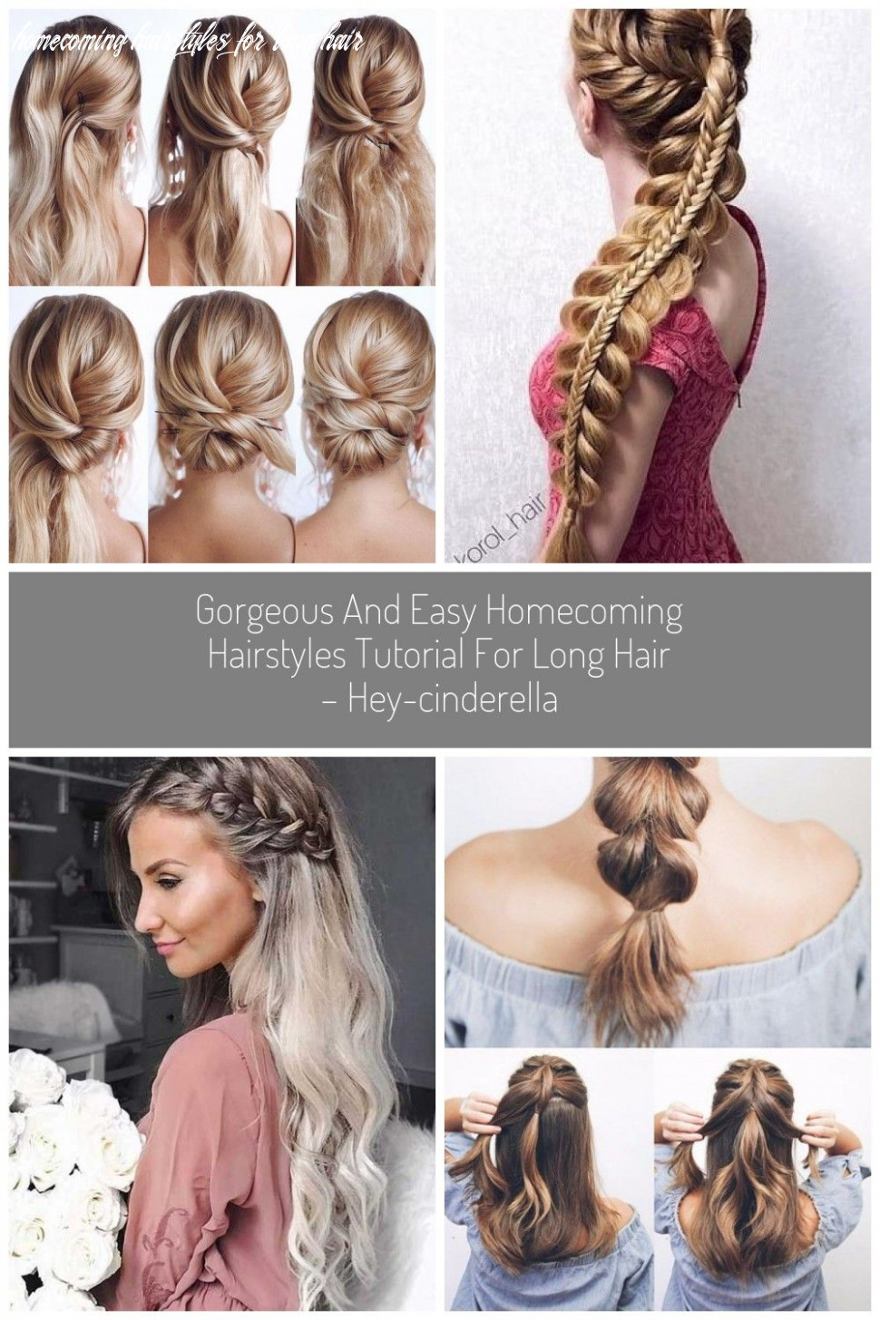 Gorgeous and easy homecoming hairstyles tutorial for long hair hey
