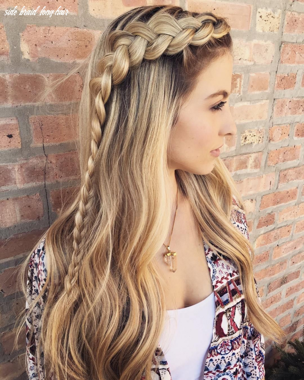 Hairstyles: side braid long hairstyle | braids for long hair