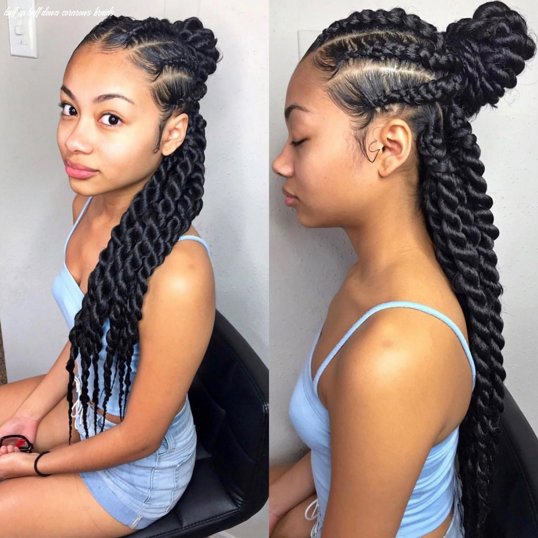 Half up/half down twists ✨ by @/trapprinzess on ig