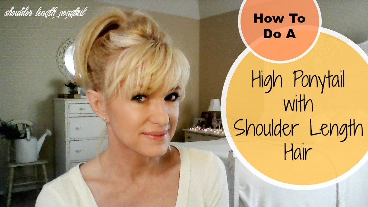 How to do a high ponytail with shoulder length hair! shoulder length ponytail