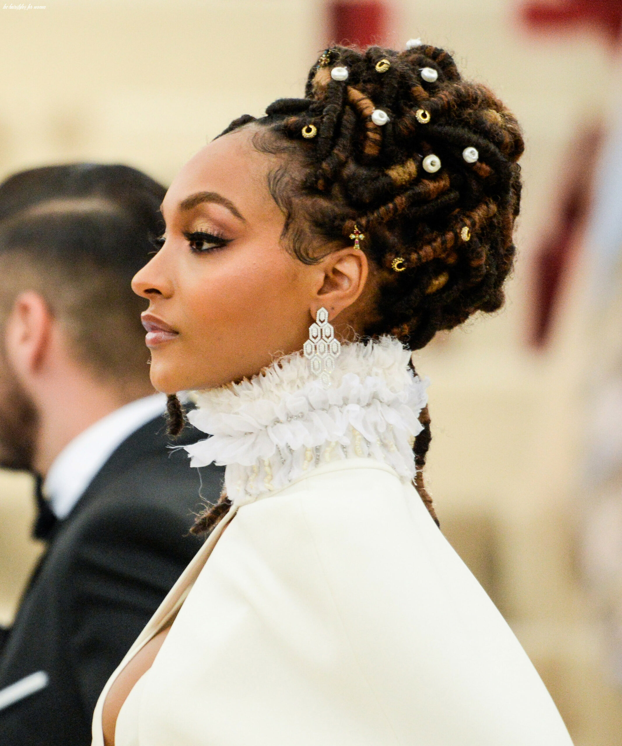 Loc updos, braids, and twists for wedding season loc hairstyles for women