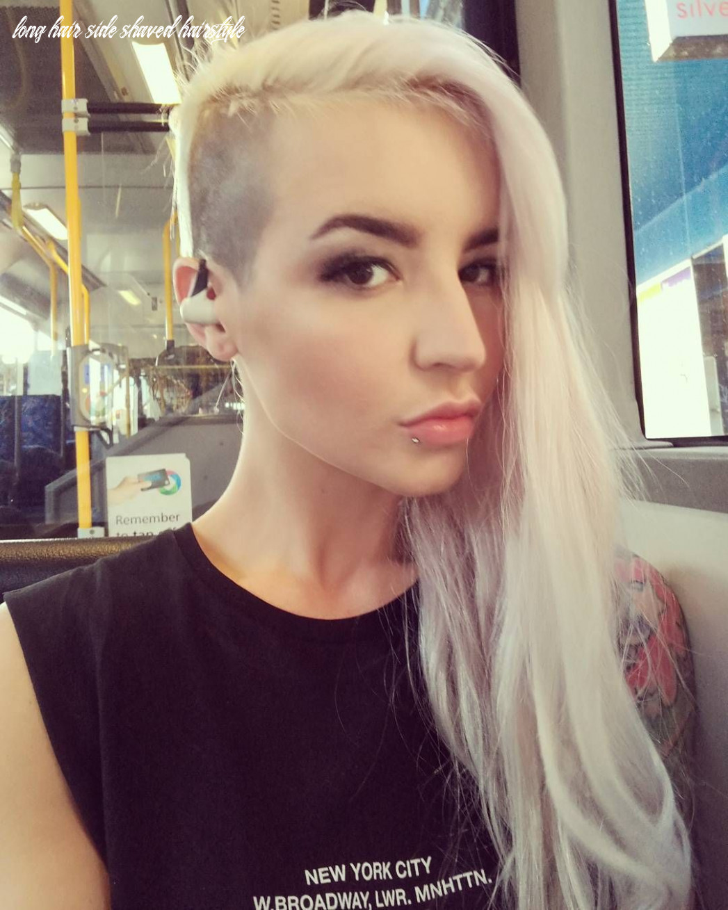 Pin by caitlin cooper on hair   shaved side hairstyles, shaved