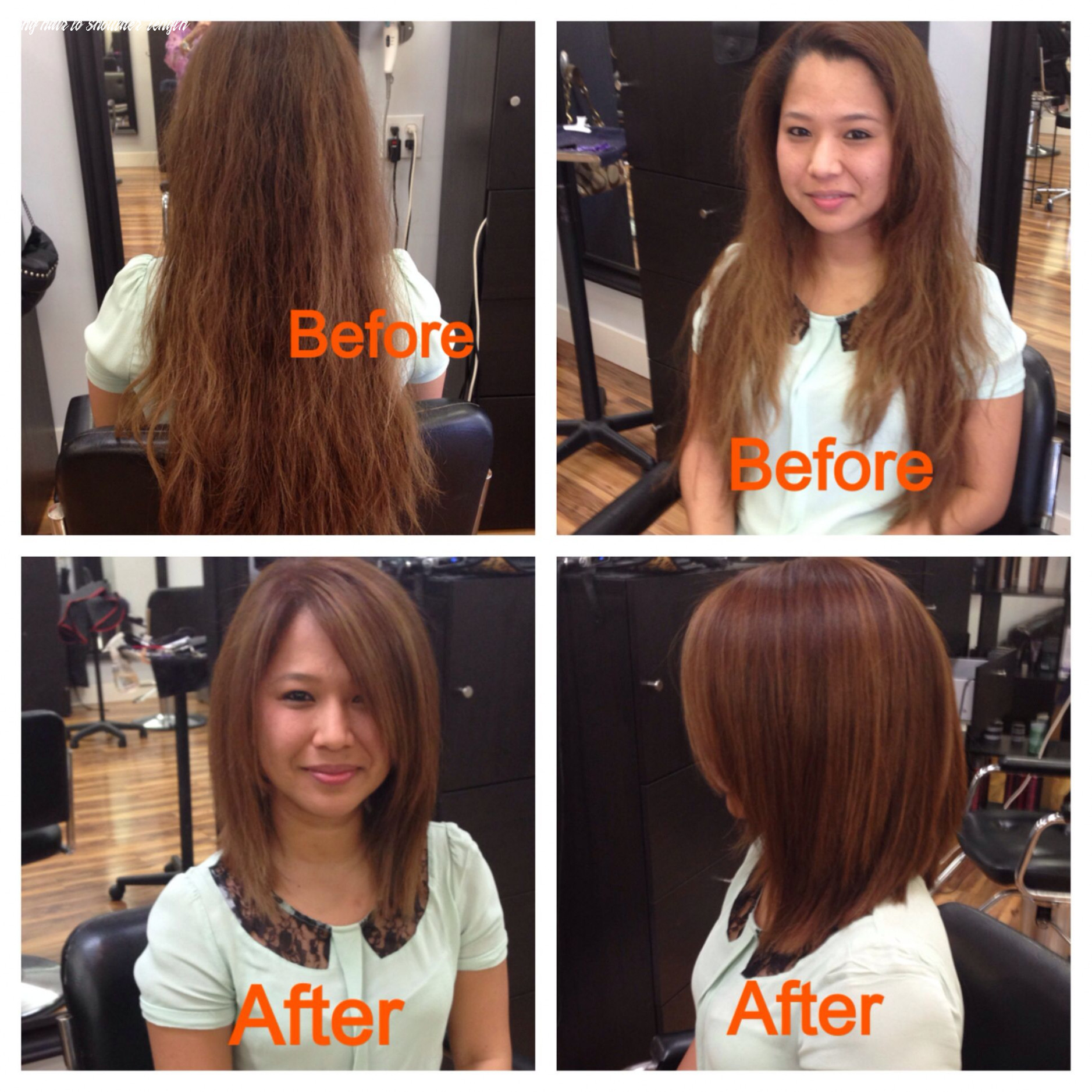 Pin on before & after long hair to shoulder length