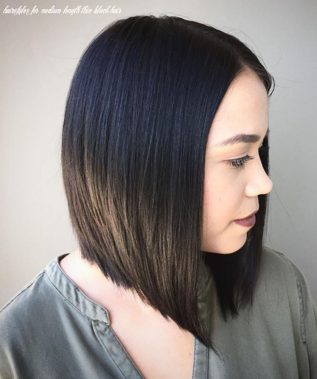 Pin on hairstyle hairstyles for medium length thin black hair