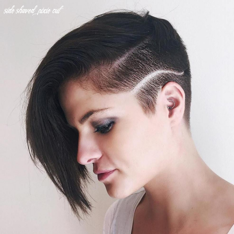 Pin on sidecut side shaved pixie cut