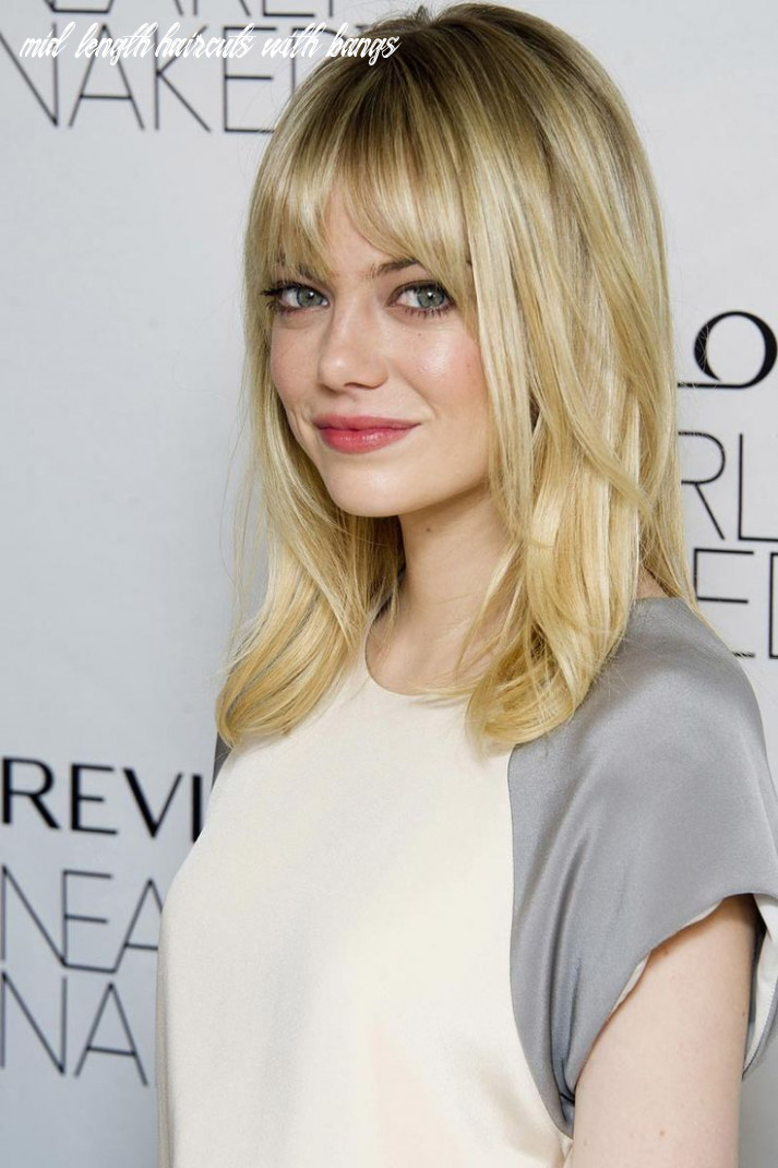 Pin on styling tips mid length haircuts with bangs