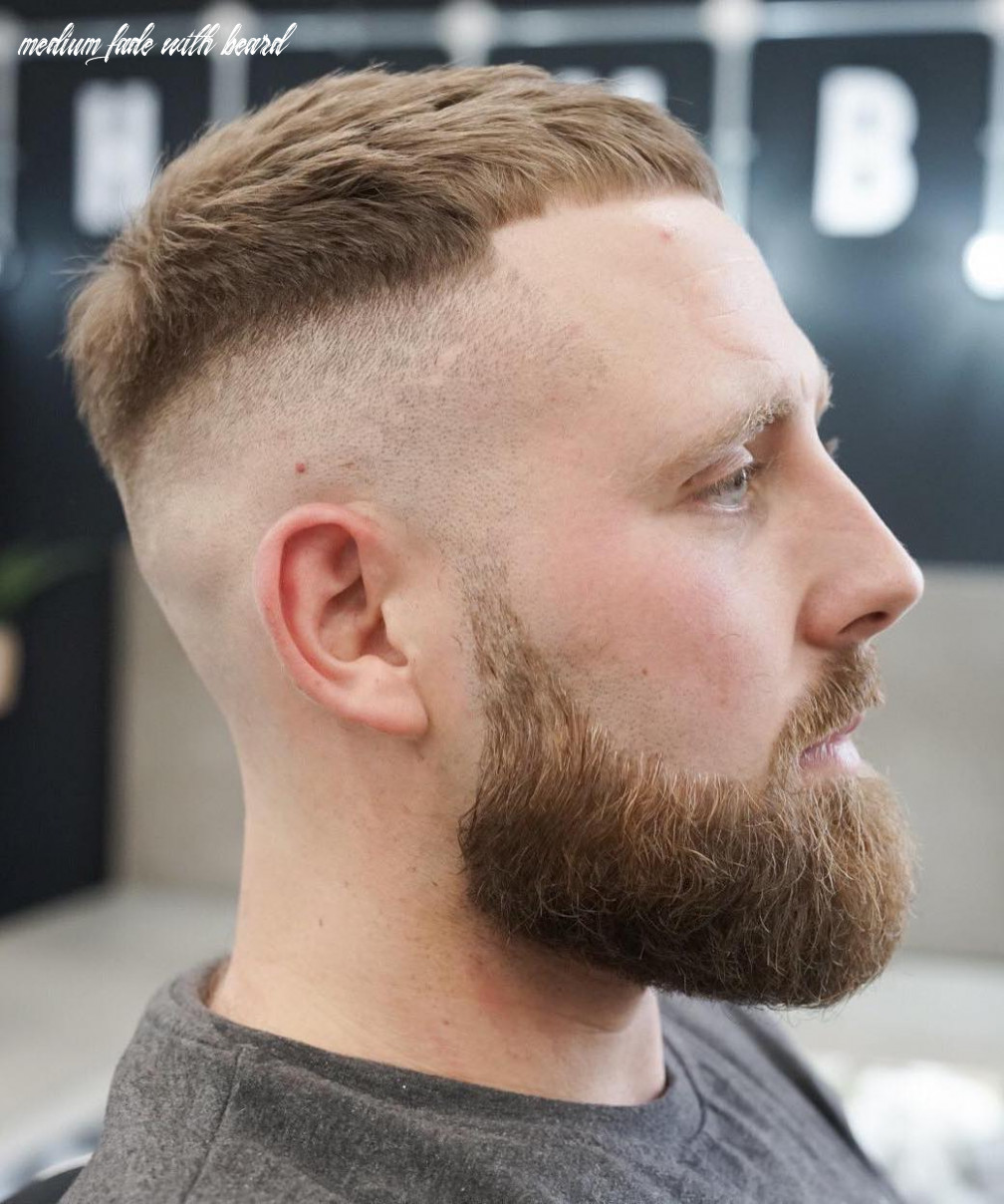 Top 8 hairstyles for men with beards medium fade with beard