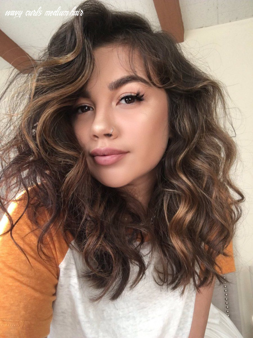 Twitter   curled hairstyles for medium hair, loose curls