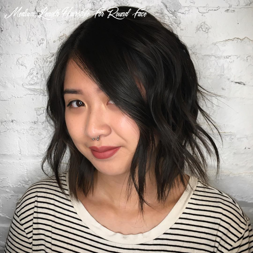10 amazing haircuts for round faces hair adviser medium length hairstyle for round face