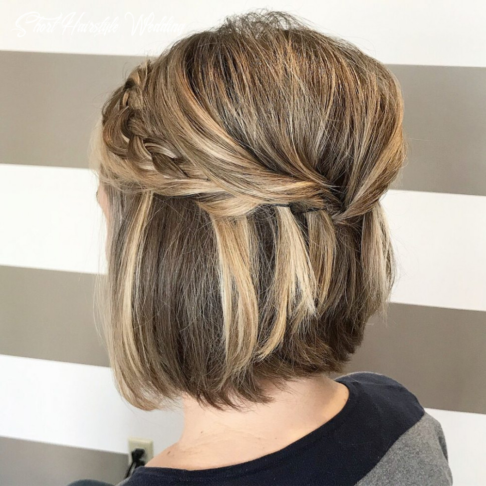 10 gorgeous wedding hairstyles for short hair this year short hairstyle wedding